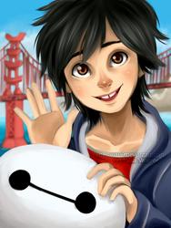 Hiro and Baymax by Nasuki100