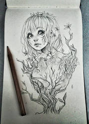 Plant girl sketch by Nasuki100