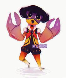 Zombie crab boy by Nasuki100