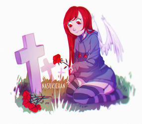 Flowers for graves by Nasuki100