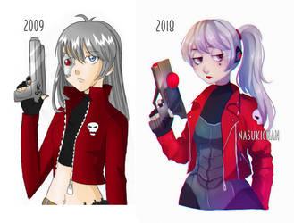 Miyako - Old character redesign by Nasuki100