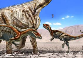 hunt torvosaurus by epic3d