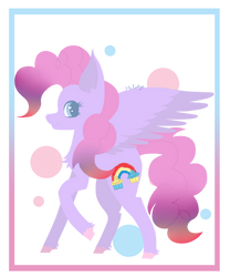 Pinkie Pie/ Rainbow Dash Fusion by Melly-fox