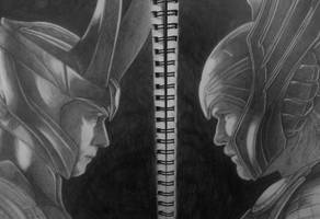 Loki and Thor by RRJones