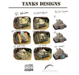 PS4 Game ''Rollin'Bob'' Tanks designs by Jmc117