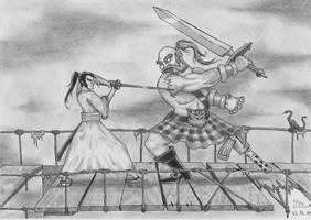 The Samurai meets The Scotsman by Fernoll