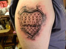 Tattoo Escudo Club Atletico Boca Juniors By Facundo Pereyra On