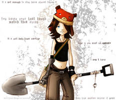 Me and my shovel by Ashwings