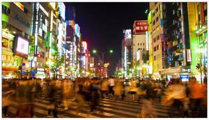 Bustling Shinjuku by vgfoto