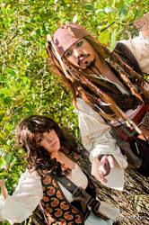 Jack Sparrow and Angelica Teach 01 by portpolyonamo1979