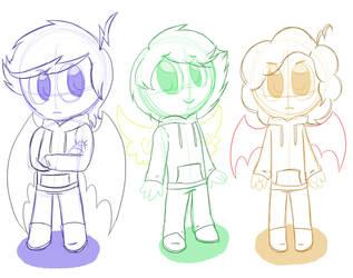 Sketch Children by TheVenturianGirl