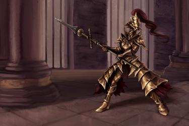 Dragon Slayer Ornstein by Blackash