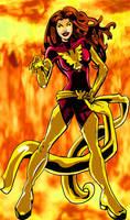 Dark Phoenix Colored by albonia