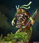 Samurai Turtle: Winning Pose by Pogimonz