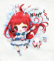 Miki - Happy year of rabbit by tho-be