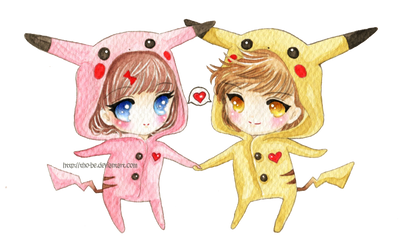:C: Pika couple by tho-be