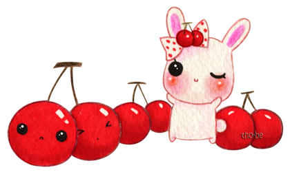 Milly and cherries by tho-be