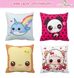 Kawaii American Mojo square pillows by tho-be