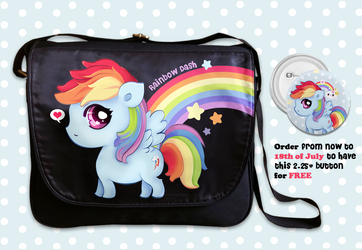 Rainbow Dash messenger bag by tho-be