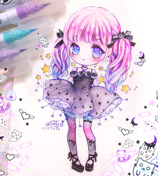 Sweet Halloween chibi girl by tho-be