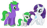 Rarity x Spike: Family by DarthGoldstar710