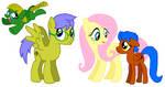 Fluttershy x Humblebee Family by DarthGoldstar710
