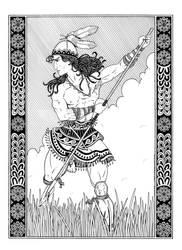 The Minyan Spear Dance by plt25