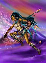 Rikku Pocahontas by KaeMcSpadden