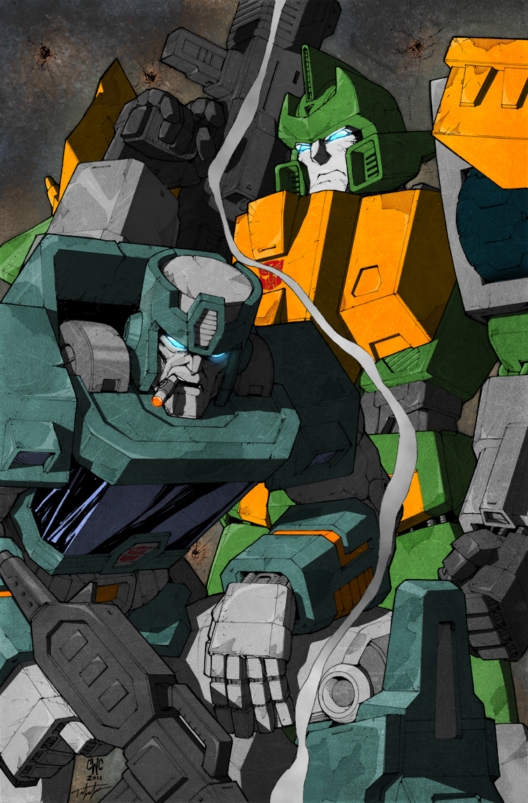 Wreckers Pin-Up Colored by VaderPrime1