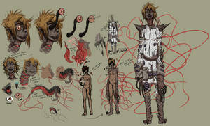 Nina Grimes, the lost astronaut character sheet by skellington1