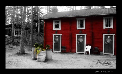 Red cabin by Henkz