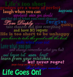 Quote Life goes on by tannabi