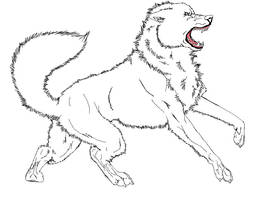 free wolf lineart by tannabi