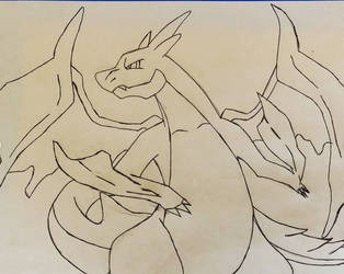 CHarizard Outline by Ryonee