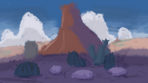 that western view from toontown by toontownloony
