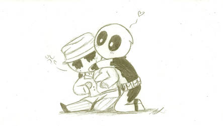 Rorschach and Deadpool by That-Love-Voodoo