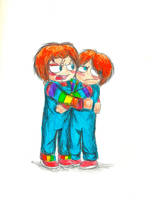 Chucky hug whu XD by That-Love-Voodoo