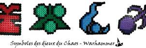 Symboles des dieux du Chaos - Warhammer by Lywen64