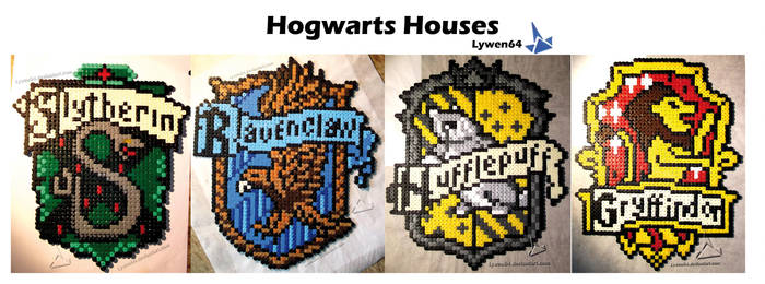 Hogwarts Houses by Lywen64