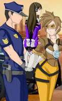 Tracer and D'va Busted by bronx1287