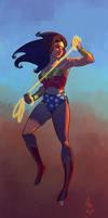Wonder woman speedpainting by androsm