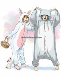 Easter Bunnies by noelzzz