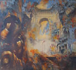 Alexandr Dobrodiy , Two in the Classic Interior by Joseartgallery