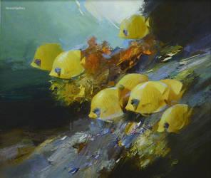 Vasyl Khodakivskyi, Coral Reef by Joseartgallery