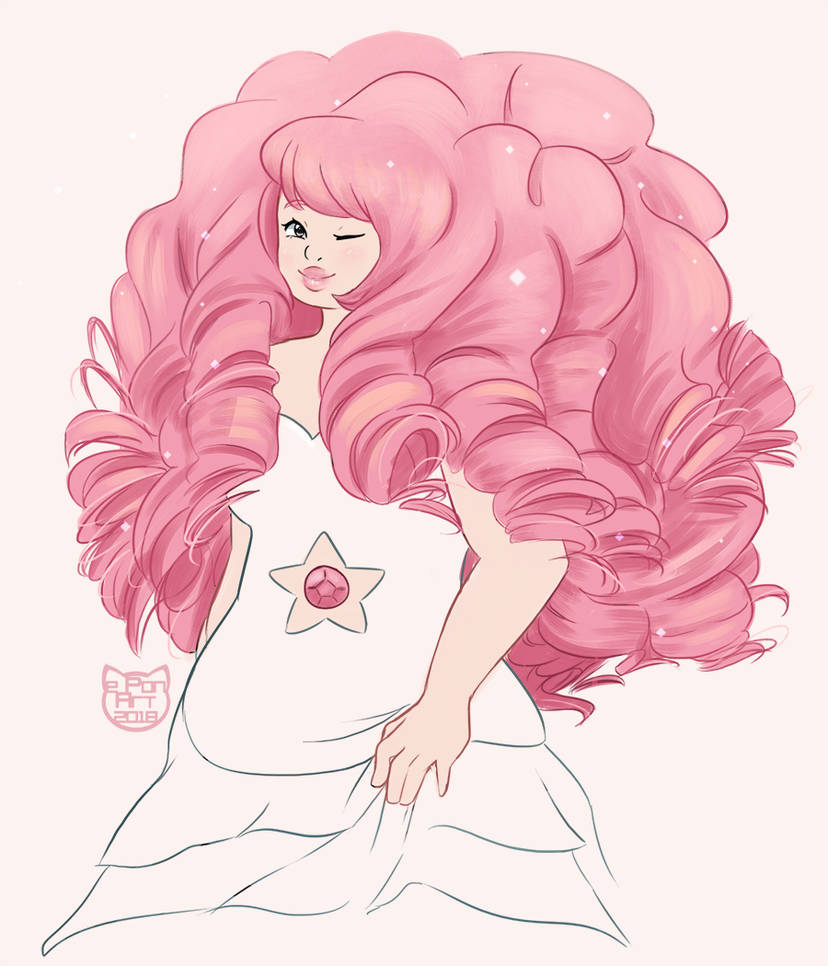 One of my patrons requested Rose Quartz for some fan art~ That hair is a lot of work... Thank you to Seth Triggs for suggesting this!