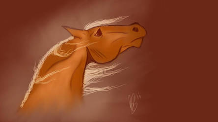 Quick Horse Sketch by CinderhawkCreative
