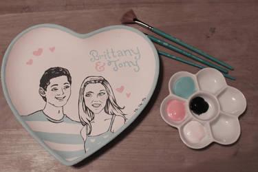 Wedding Gift Plate by KittyCarousel