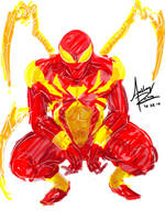Iron Spider-Man by Archonyto