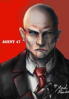 Fanart Portrait 01: Agent 47| Hitman by Xedrandon