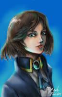 Fanart Portrait 02: Elizabeth| Bioshock Infinite by Xedrandon